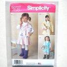 Toddlers Girls Fleece Dress Jumper Simplicity Sewing Pattern S0727