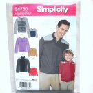 Boys Mens Classic Knit Pullover Shirts Simplicity Sewing Pattern S0730