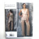 Misses Sleeveless Top Pants Donna Karan Vogue Designer Sewing Pattern V1480