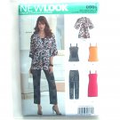 Misses Kimono Jacket Top Pants Dress Simplicity Sewing Pattern 0989