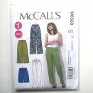 Misses Elastic Waist Shorts Pants L XL XXL McCalls Sewing Pattern M6568