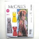Misses Elastic Waist Summer Dresses XS S M McCalls Sewing Pattern M6744