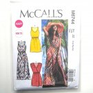 Misses Elastic Waist Summer Dresses L XL XXL McCalls Sewing Pattern M6744