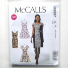 Misses Princess Seam Dresses 6 8 10 12 14 McCalls Sewing Pattern M6887