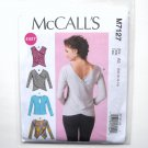 Misses Pullover Tops McCalls Sewing Pattern M7127