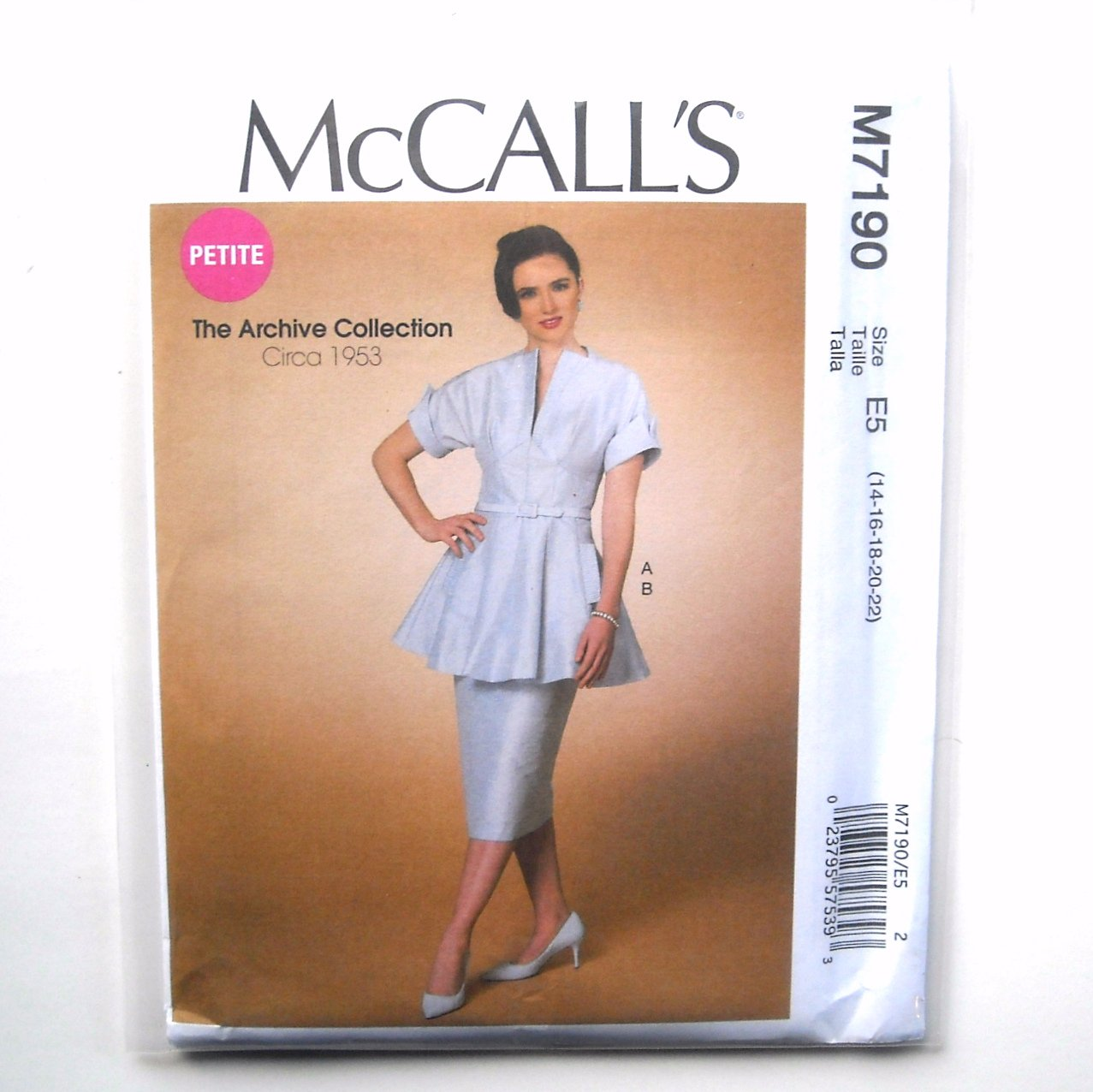 Womens Misses Flared Tunic Skirt 14 - 22 McCalls Sewing Pattern M7190