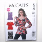 Womens Misses Princess Tops Plus Sizes 18W - 24W McCalls Sewing Pattern M7205