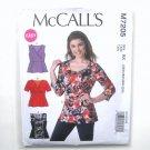 Womens Misses Princess Tops Plus Sizes 26W - 32W McCalls Sewing Pattern M7205