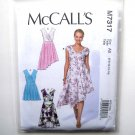 Misses Pleated Summer Dresses 6 8 10 12 14 McCalls Sewing Pattern M7317