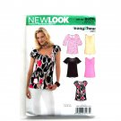 Womens Misses Tops 8 10 12 14 16 18 Simplicity New Look Sewing Pattern 6807