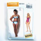 Misses Womens Bikini One Piece Swimsuit 12 - 20 Lisette Butterick Sewing Pattern BP291