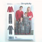 Pants Top Jumpsuit Unisex XS S M L XL Simplicity Sewing Pattern D0585