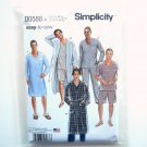 Mens Classic Pajamas & Robe XS S M L XL Easy Simplicity Sewing Pattern D0588