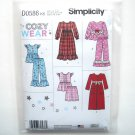 Childs Girls Sleepwear Robe Cozy Wear 7 - 14 Simplicity Sewing Pattern D0586
