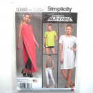 Womens Tunic Shorts Knit Leggings 12 - 20 Project Runway Simplicity Sewing Pattern S0993