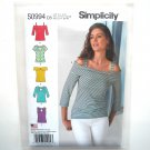 Misses Pullover 5 Styles Knit Tops 4 - 12 Simplicity Sewing Pattern S0994