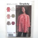 Misses Tunic Top XXS M XXL Simplicity Sewing Pattern S0991