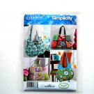 Sweet Pea Totes Bags One Size Simplicity Sewing Pattern 0387