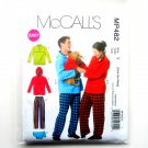 Mens Misses Teen Tops Pants Dog Blanket McCalls Easy Sewing Pattern MP482