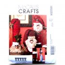 Santas Snowman Greeter McCalls Crafts Sewing Pattern M6004