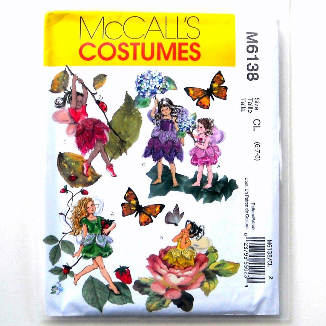 Girls Fairy Costumes McCalls Sewing Pattern M6138