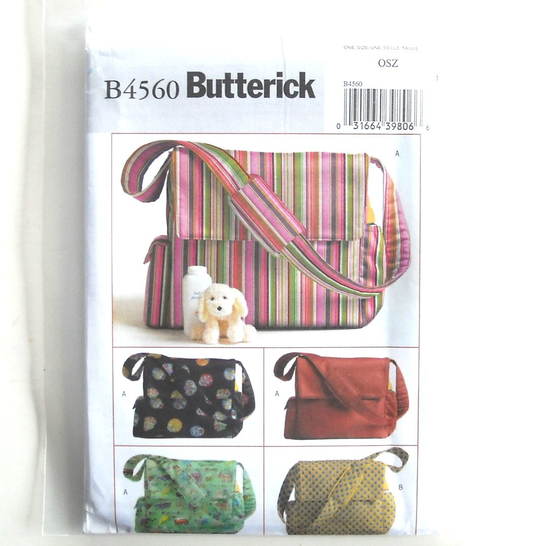 Diaper Bags Butterick Sewing Pattern B4560 One Size