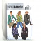 Misses Jacket Size 6 - 12 Butterick Sewing Pattern B4610