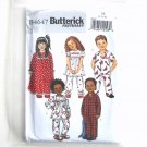 Toddlers Childrens Nightgown Pajama Top Pants Size 1 - 3 Butterick Pattern B4647