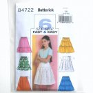 Girls Skirts 6 Fast Easy Size 7 - 10 Butterick Pattern B4722