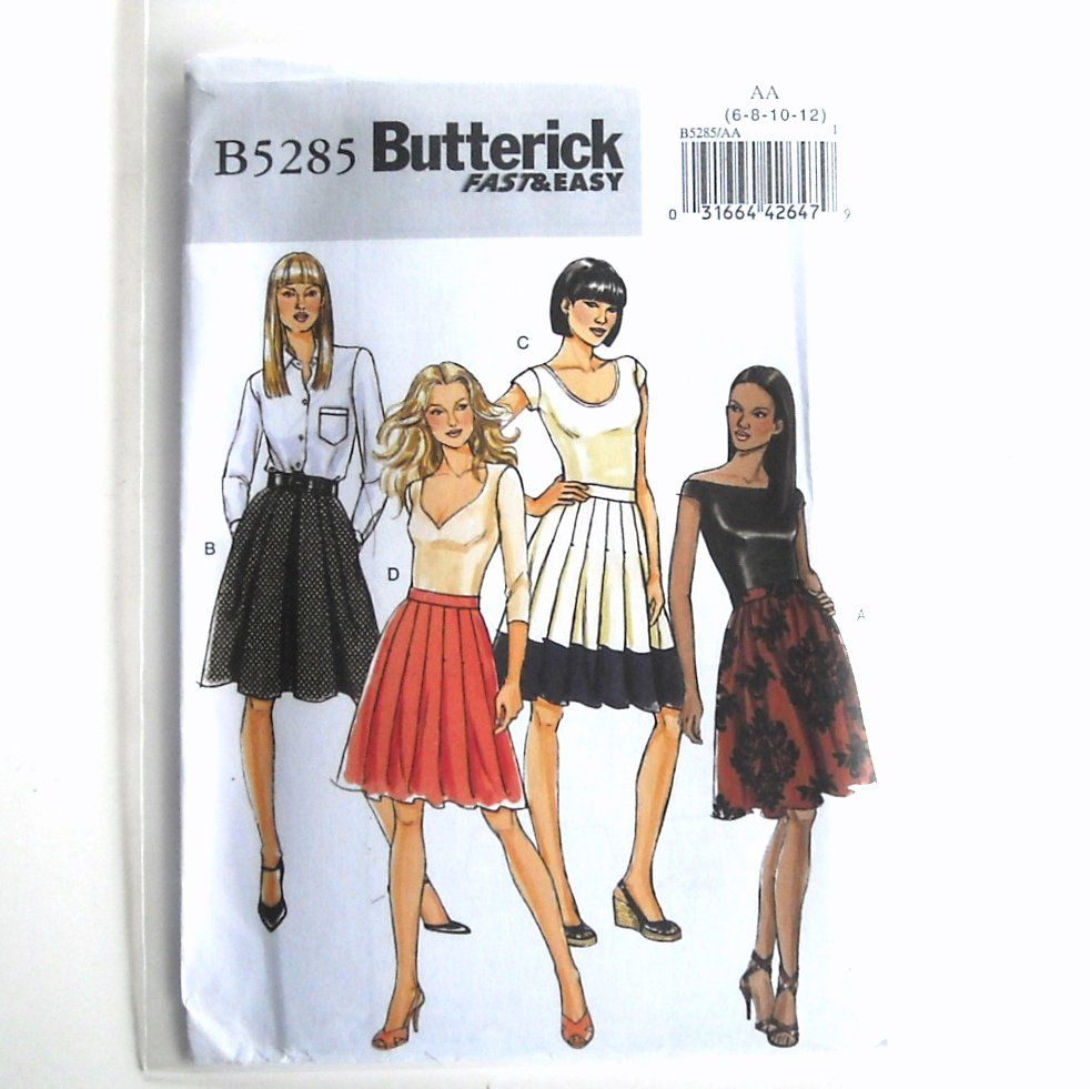 Misses Skirts 6 - 12 Fast Easy Butterick Sewing Pattern B5285