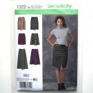 Misses Mock Wrap Skirts 16 - 24 Karen Z Designs Simplicity Sewing Pattern 1322