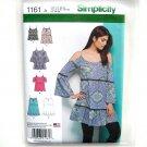 Misses Mini Dress Tunics Top XS - XL Simplicity Sewing Pattern 1161