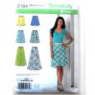 Misses Bias Gored Skirts 6 - 14 In K Designs 2 Hour Simplicity Pattern 2184