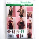Misses Kimono Jacket Wrap Top XS - XXL Easy Simplicity Sewing Pattern 1588