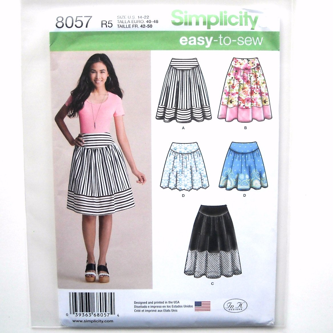 Misses Womens Skirts 14 - 22 Simplicity Easy Sewing Pattern 8057