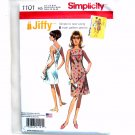 Misses 1960s Jiffy Dress 6 - 14 Simplicity Sewing Pattern 1101