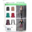 Misses Skirts 4 - 12 In K Designs Simplicity Sewing Pattern 1321