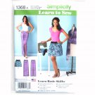 Misses Skirts Learn To Sew Simplicity Sewing Pattern 1368