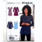 Misses Mini Dress Tunic 14 - 22 In K Designs Simplicity Sewing Pattern D0525