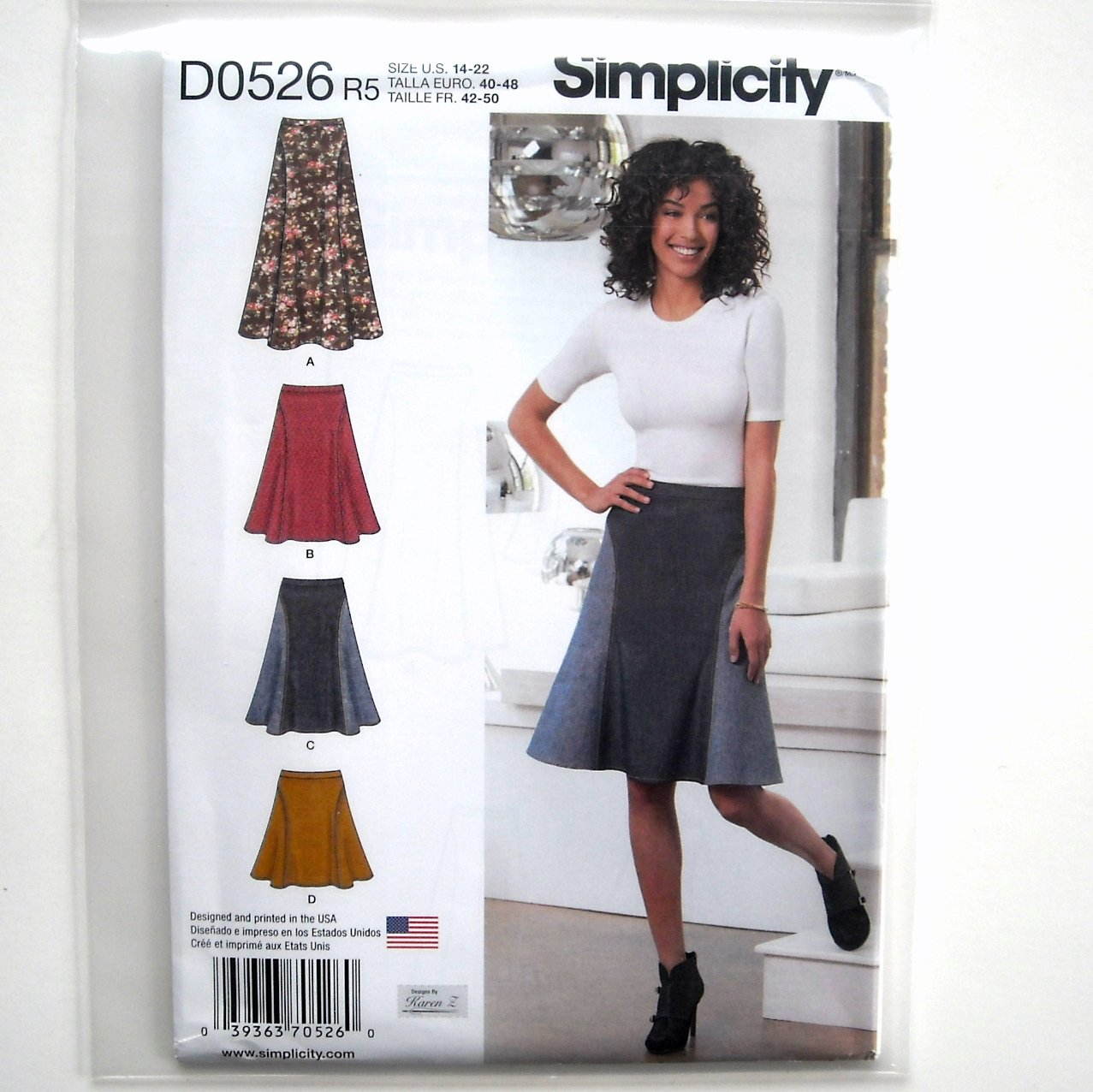 Misses Skirts 14 - 22 Design Karen Z Simplicity Sewing Pattern D0526