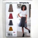 Misses Skirts 14 - 22 Design Karen Z Simplicity Sewing Pattern D0526