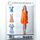 Misses Womens Summer Pullover Dresses 14 - 22 Cynthia Rowley Simplicity Pattern 1872