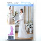 Misses Bridal Bridesmaid Gown Size 6 - 14 Simplicity Pattern 1909