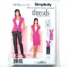 Misses Womens Slim Pants Skirt Jacket 16 - 24 Threads Simplicity Pattern 1919