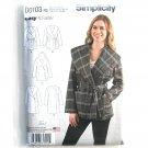 Womens Misses Jacket Coat 14 - 22 Karen Z Simplicity Sewing Pattern D0103