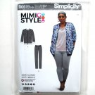 Misses Knit Jacket Skinny Jeans 6 - 14 Mimi G Style Simplicity Sewing Pattern D0619