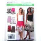 Misses Womens Summer Slim Circle Skirts 6 8 10 12 14 Easy Simplicity Pattern 4236