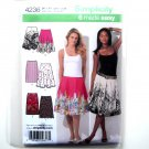 Womens Summer Slim Circle Skirts 12 14 16 18 20 Simplicity Pattern 4236