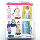Womens Misses Aprons Six Styles S - L Design By Teri Simplicity Pattern 4282