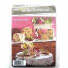 Home Decorating Easy Kitchen Accessories Tea Cozy Oven Mitt Mat Napkin Simplicity Pattern 4341